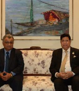 Oman head of mission pays farewell call on the Foreign Minister